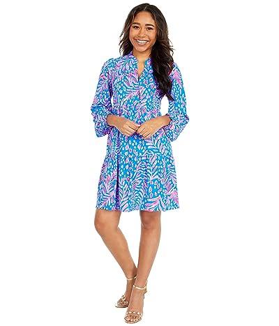 Lilly Pulitzer Winona Stretch Dress (Pundy Blue La Zebra) Women
