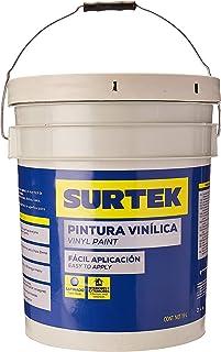 Surtek SP20400 Pintura Vinílica, color Blanco, 19 l