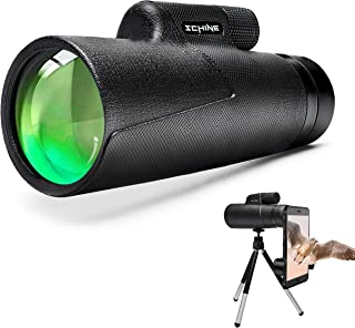 Monocular Telescope, HD Low Night Vision Waterproof- Shockproof High Power and Phone Adapter, Tripod Holder for Bird Watch...
