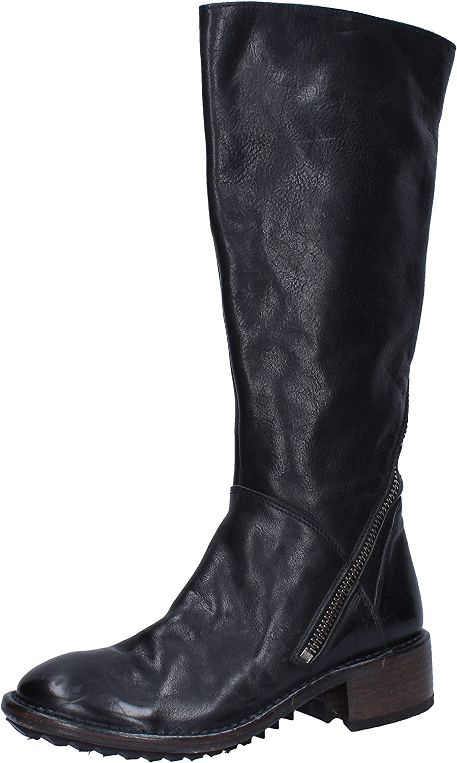 MOMA Boots Womens Leather Black