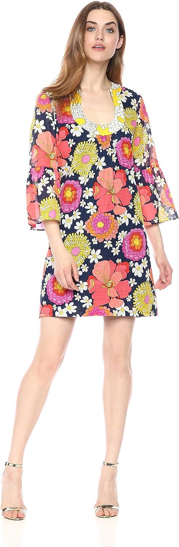 Trina Turk Womens Standard Bonita Bell Sleeve Dress