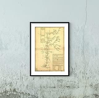 Orinoco River (Venezuela & Colombia) 1732 Spanish Map Includes Notes & Index to Islands & Tributaries at The Delta of The River|Orinoco, nuebamente obserbado en bajante.|16