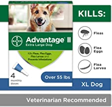 Bayer Advantage II Flea and Lice Treatment for X-Large Dogs, Over 55 lbs