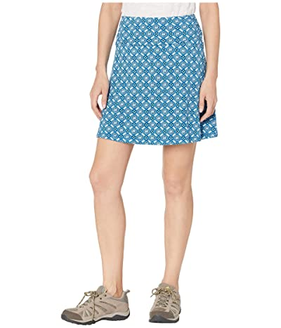 White Sierra Tangier Odor Free Printed Skirt (Blue Sea) Women