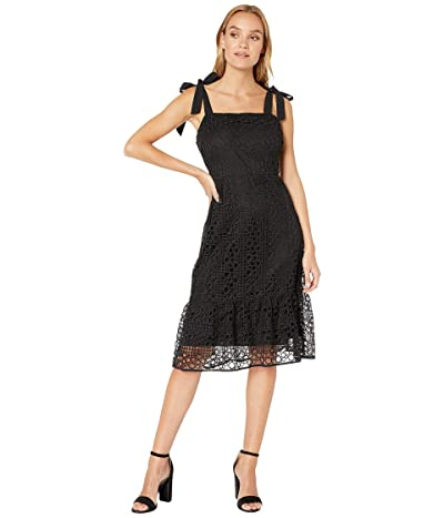 Sam Edelman Circle Lace Sheath Dress (Black) Women