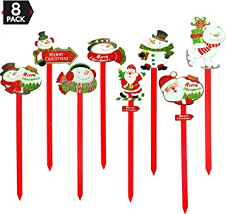 Big Mo's Toys Yard Stakes - Holiday Outdoor Snowman Decorations Lawn Signs for Christmas - 8 Pieces