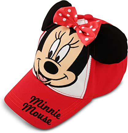 huge selection of 0e482 3a575 Disney Toddler Girls Minnie Mouse Bowtique Cotton Baseball Cap, Red, Age 2-4