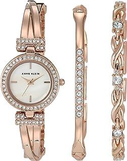 Women's Swarovski Crystal Accented Watch and Bracelet Set