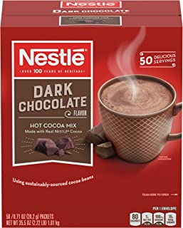 Nestle Hot Chocolate Mix, Hot Cocoa, Dark Chocolate Flavor, Made with Real Cocoa, 0.71 oz Packets (Pack of 300)