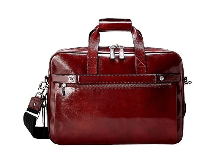 Bosca  Single Gusset Stringer Bag (Dark Brown) Bags