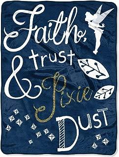 The Northwest Company Disney Tinkerbell Faith, Trust and Pixie Dust Fleece Super Plush Throw Blanket 46