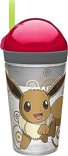 Zak Designs POKC-S113 Zaksnak Pokemon Toddlerific 8oz Tumbler W-Wrap, 10 oz, Clear