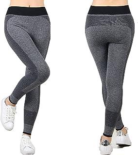 FDSHIP Women's Polyester Yoga Pants/Legging (Grey, Large)