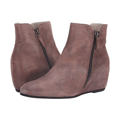 French Sole Magic Wedge Bootie (Chocolate Metallic Suede) Women
