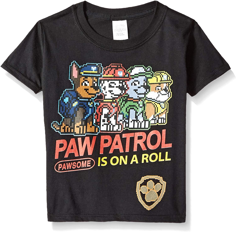 Paw Patrol Boys' Little Roll Video Game Short Sleeve Tshirt