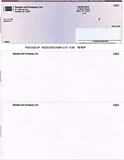 1000 Printed Laser Computer Voucher ChecksHigh Security Compatible with Quickbooks Burgundy//Blue Cubed