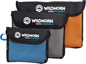 WildHorn Outfitters Microlite Travel Towel Bundle for Camping, Hiking & Backpacking. Microfiber Quick Dry Towel Set - Larg...