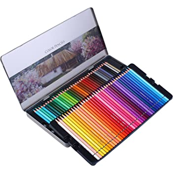 Coloring Book Vibrant Numbered Pencil with Premium Soft Core for Professional Drawing Art Sketching Shading Orionstar Colored Pencils Set of 72 Colors with Zipper Case for Adult Artist Beginner