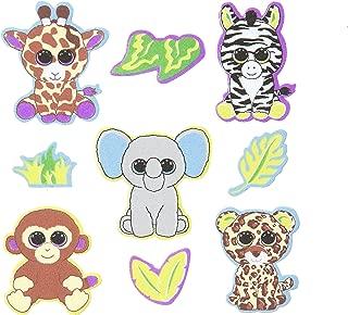 Darice, 18 Piece, Ty Beanie Boo Foam Sticker, Jungle Theme