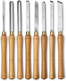 Werks Lathe Set, HSS blades, 8pc, Quality Wood Make