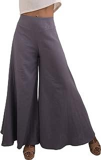 Tropic Bliss Women's Wide Leg Organic Cotton Palazzo Pants, Fair Trade