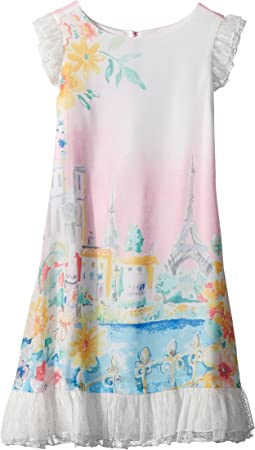 Us Angels Chiffon and Mesh Dress (Toddler/Little Kids)