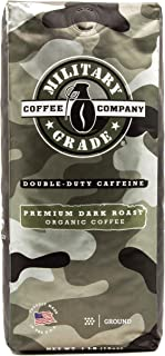 Military Grade Ground Coffee, The Strongest Coffee On The Planet, USDA Organic - 16 Oz. (1 BAG)