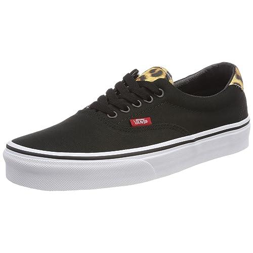 f8a93381b9 Vans New Unisex Black Leopard Canvas Low Cut Lace Up Skate Shoes - Black