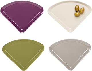 Sagaform SA5016380 Taste Beilagenteller aus Steingut, mehrfarbig, 4 Stück
