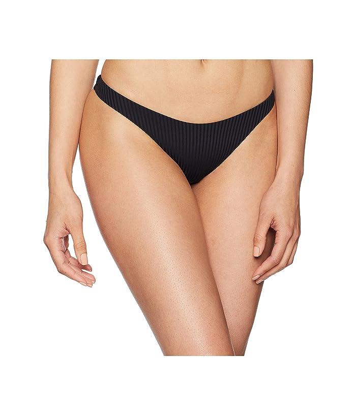 Vitamin A Swimwear California High-Leg Ribbed Bottom (Black/Eco Rib) Women
