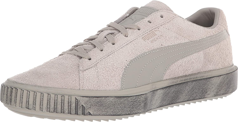 PUMA Mens Breaker Suede Concrete Sneaker