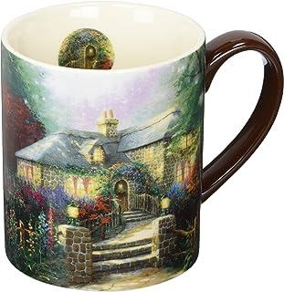LANG Hollyhock House 14 oz. Mug by Thomas Kinkade (10995021097), Ceramic, Multicolor