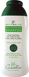 ReviTeaLize Natural Anti-Dandruff shampoo, with Green Tea & Aloe Vera, Free of Sulfate, Coal Tar, Sulfur or Drying salt