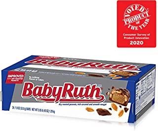 Baby Ruth Milk Chocolate Candy Bar Singles, 2.1 Ounce Bars (Pack of 24)