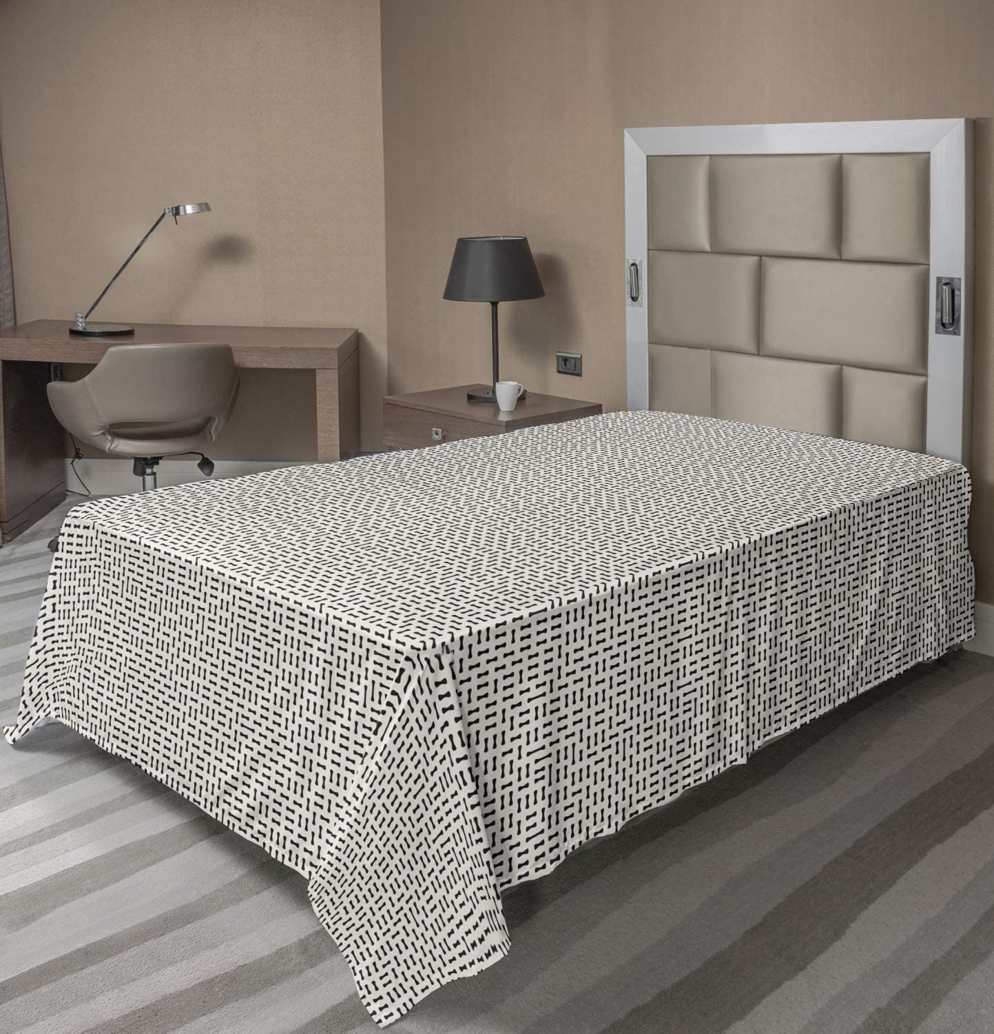 Ambesonne Modern Flat Sheet Omaha Mall Irregular 2021 new Rounded Monochr Shapes in