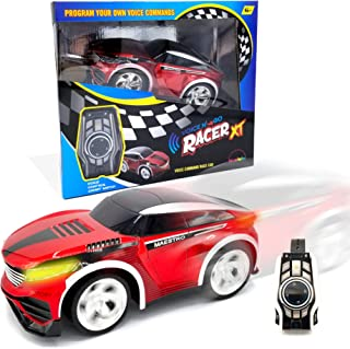 MUKIKIM Voice N' Go Racer Xt – Red. Voice Controlled Race Car (Customizable) & Watch Controller. 5 Speed (Turbo) + 12 Color LEDs Options + Engine Sound! 2.4Ghz & USB Rechargeable