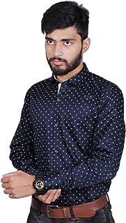 MODS The Navi Blue Printed Shirt