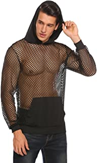 Men's Sexy Fishnet See Through Tank Top Muscle Workout T Shirt Mesh Transparent Tees Top