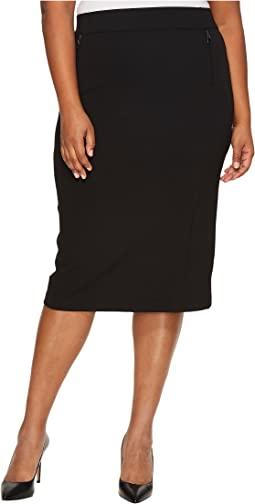 B Collection by Bobeau - Plus Size Ollie Ponte Pencil Skirt