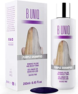 Purple Shampoo For Blonde Hair - Blue Shampoo for Silver and Violet Tones: Revitalize Blonde, Bleached & Highlighted Hair – Sulfate Free Hair Toner – 8.45Fl.oz/ 250ml