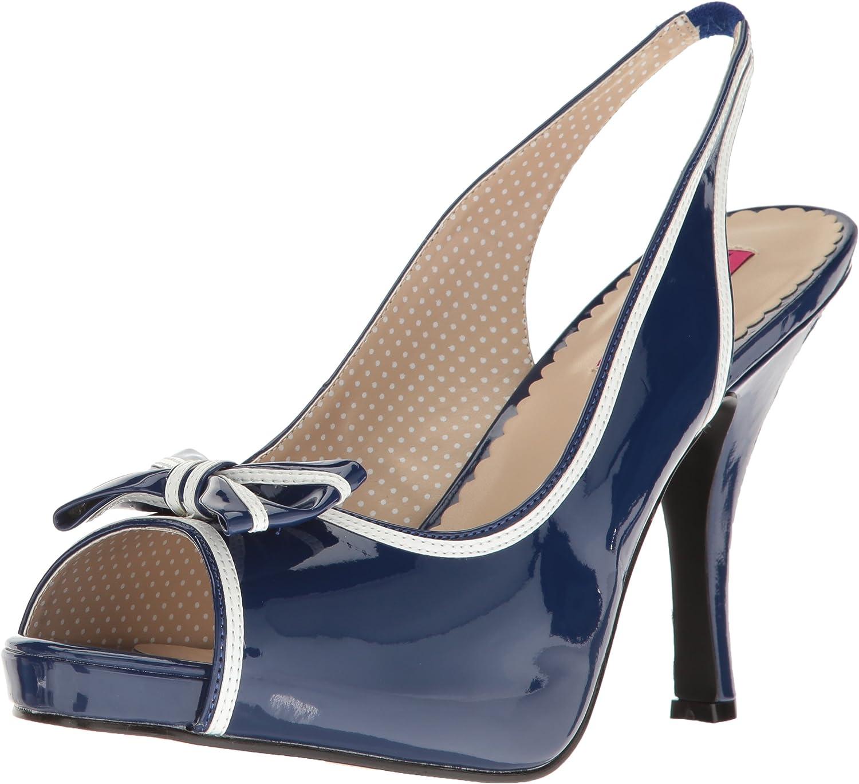 Pleaser Womens Pinup10 blue-w Platform Dress Sandal
