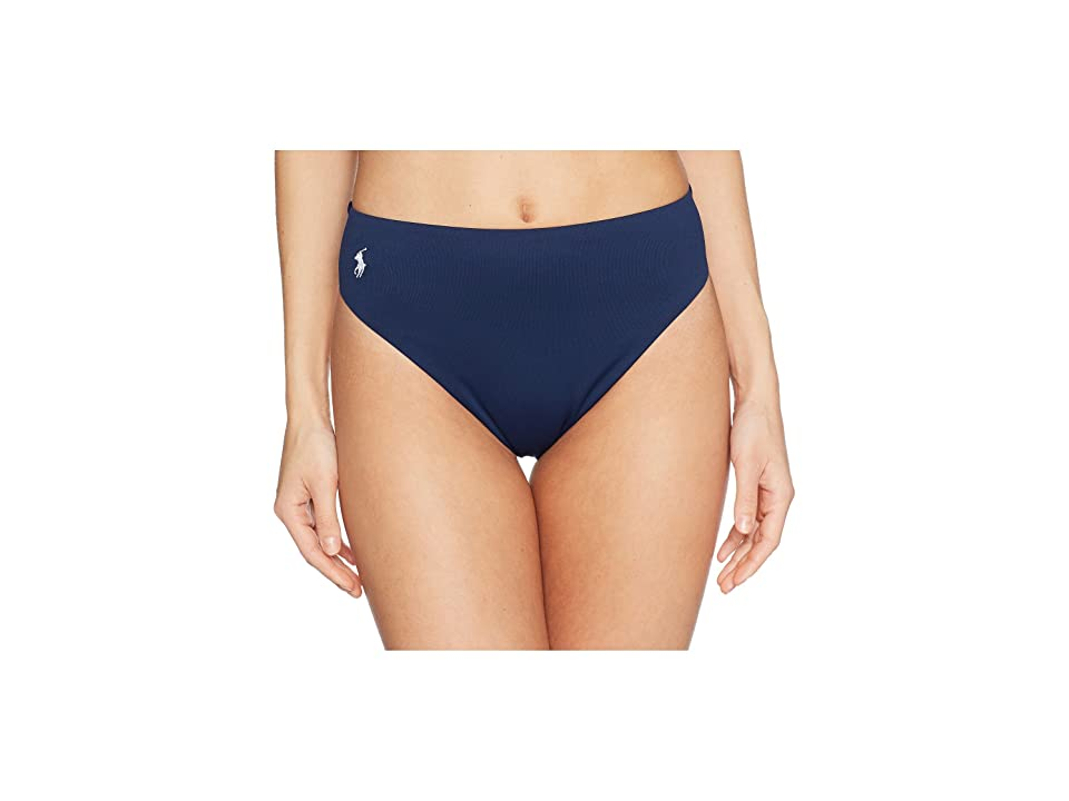 Polo Ralph Lauren Icon Classic High-Waist French Cut Leg Bottoms (Navy) Women
