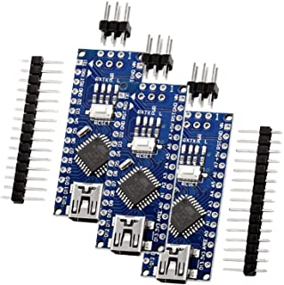 AZDelivery Nano V3.0 Mini USB Board ATmega328 5V 16MHz CH340 ATmega328P Micro Controller, CH340G vervangt FT232RL, Inclusi...