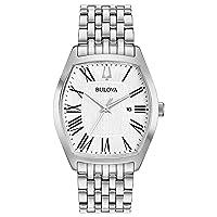 Bulova Women's 96M145 Tonneau Stainless Roman Dial Bracelet Watch Deals