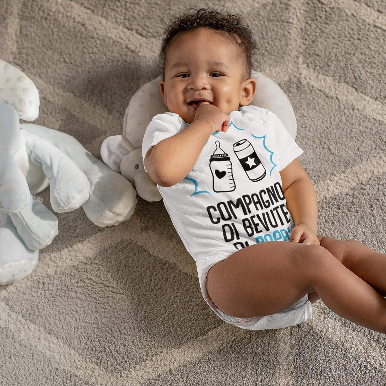 Compagno di Bevute di pap/à Abbigliamento Prima Infanzia Bimbo Body Bambino Unisex 100/% Cotone Morbido e Traspirante Body Neonato Manica Corta Divertenti