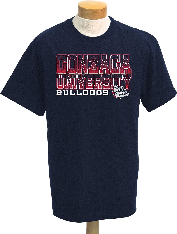 Very popular! NCAA Gonzaga Bulldogs Acho Sleeve Short Complete Free Shipping T-Shirt