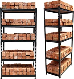 "STAR WORK Adjustable 5 -Section Shelves & Rack Industrial Storage Shelving Unit Boltless Rivet Rack - 5'3""[H] X 2'8""[L] X ..."