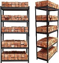 "STAR WORK Adjustable 5 -Section Shelves & Rack Industrial Storage Shelving Unit Boltless Rivet Rack - 5'3""[H] X 2'8""[L] X 1'4""[D] - Adjustable Industrial Storage Shelving Unit"