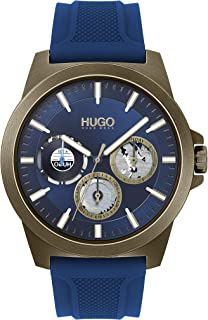 Hugo Boss Men'S Blue Dial Blue Silicone Watch - 1530130