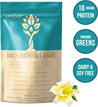 LYFE FUEL Meal Replacement Shake | Keto, Vegan & Gluten Free Plant Based Protein + Organic Superfood Greens | Vanilla Chai | 18g Rice + Pea Protein | 14 Meals